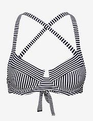 Michael Kors Swimwear - Mini Stripe Tie Cross Back - bedrade bikinitops - new navy - 0