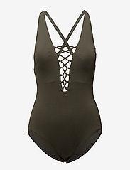 Michael Kors Swimwear - X-BACK 1PCS - badpakken - ivy - 0