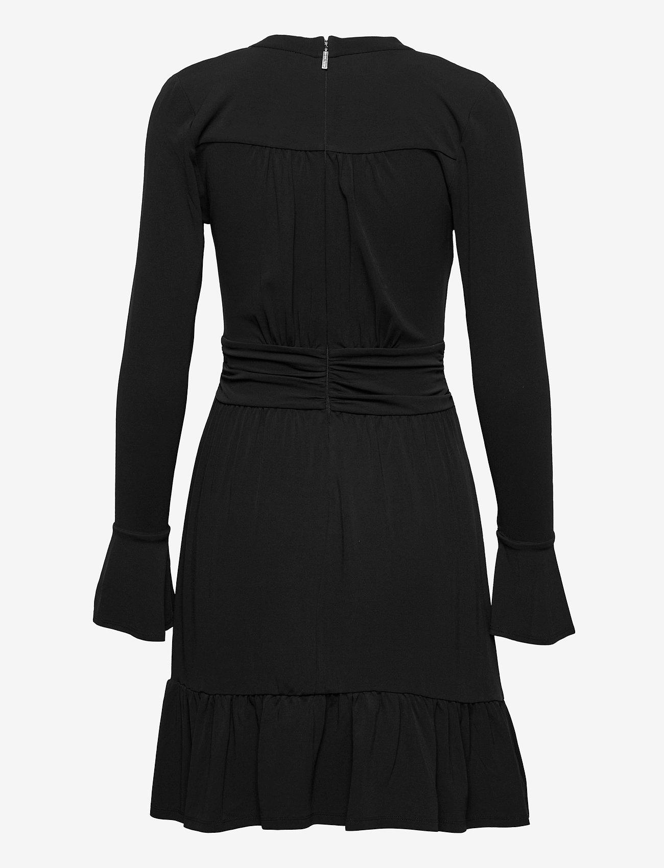 Michael Kors - ELV SHIRRED MINI DRS - alledaagse jurken - black - 1