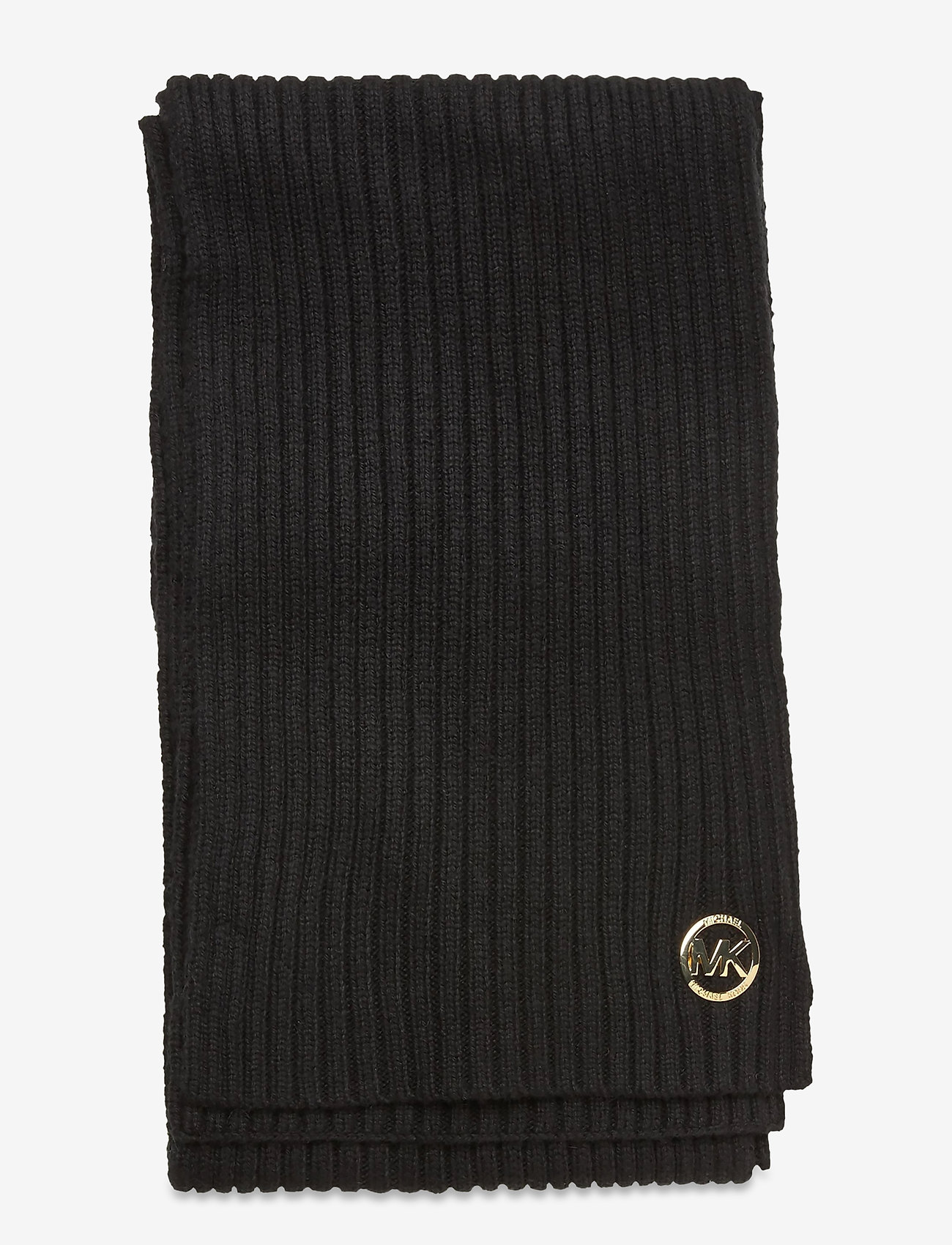 Michael Kors - MK PATCH RIB SCARF - sjaals - black/gold - 1