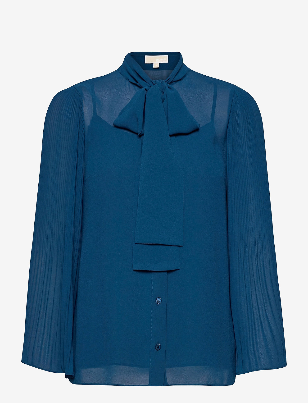 Michael Kors - PLEATED TOP - blouses met lange mouwen - river blue - 0