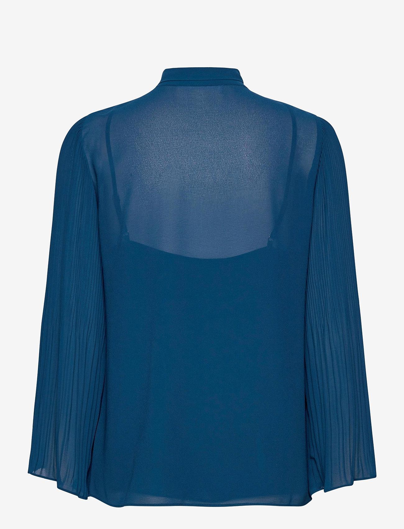 Michael Kors - PLEATED TOP - blouses met lange mouwen - river blue - 1