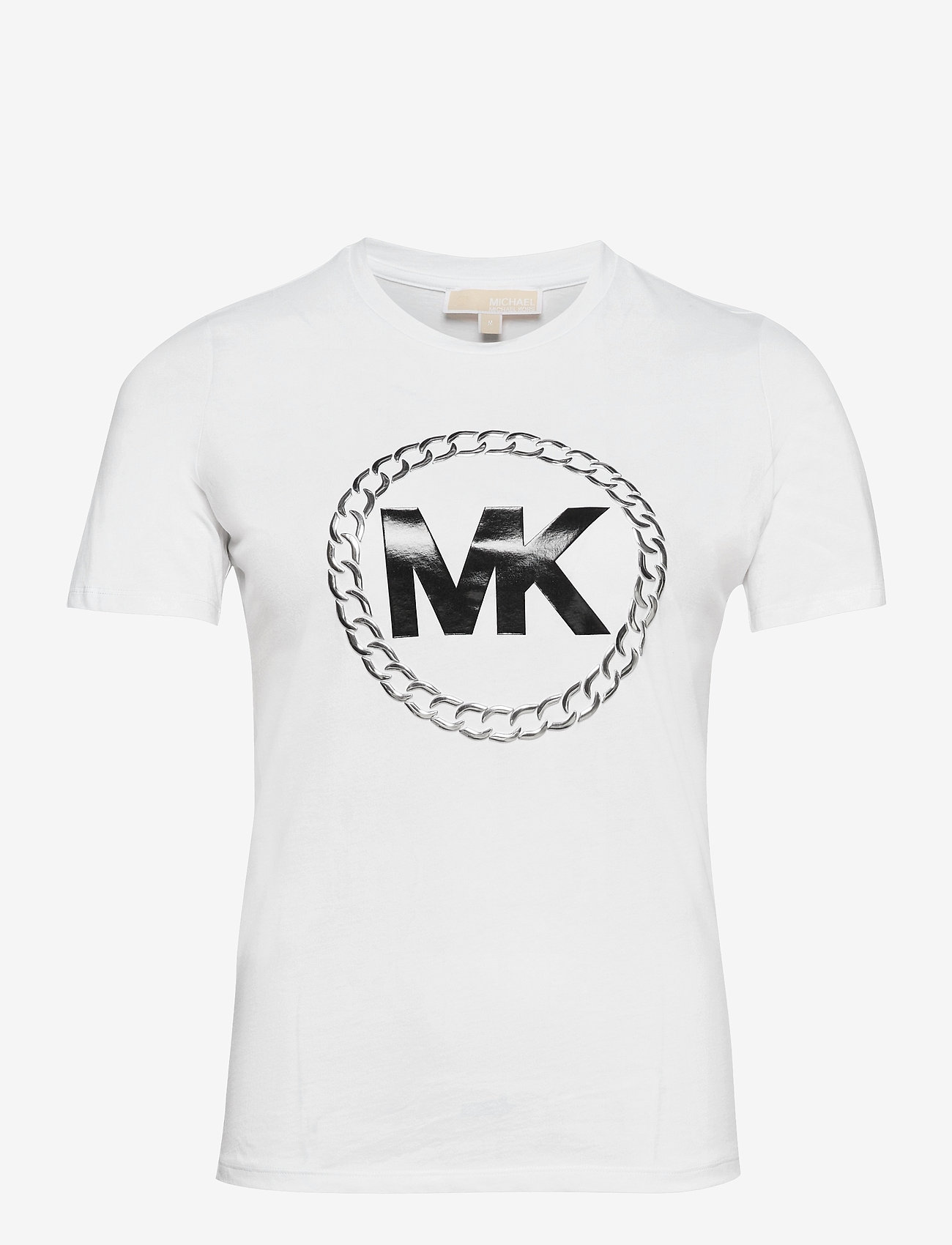 Michael Kors - ELV HT CHAIN LOGO T - t-shirts - white - 0