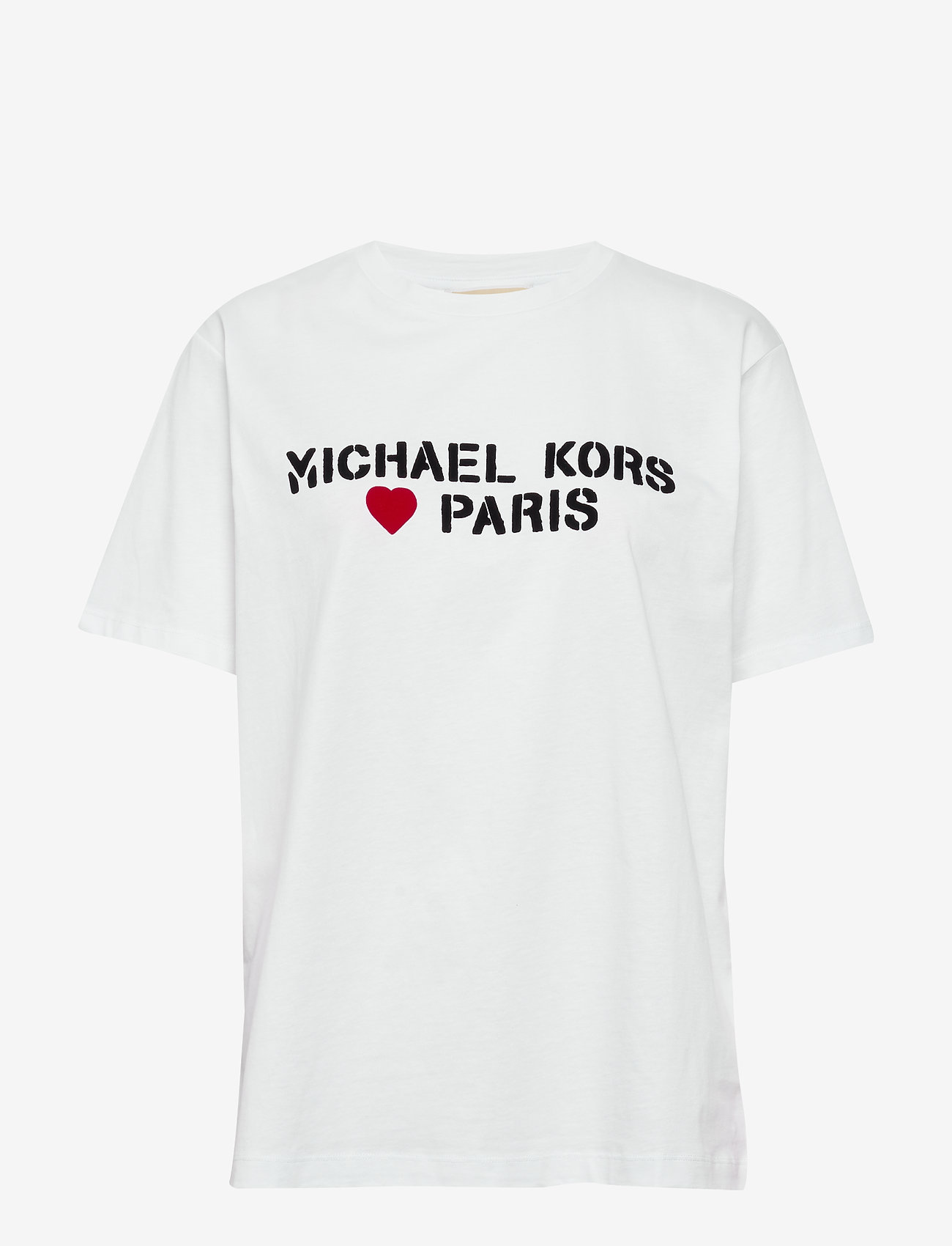 Michael Kors - MK PARIS HEART UNSX - t-shirts - white - 0