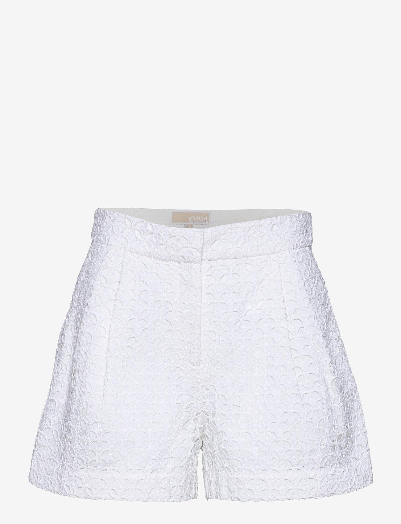 Michael Kors - EYELET PLEATED SHRT - shorts casual - white - 0