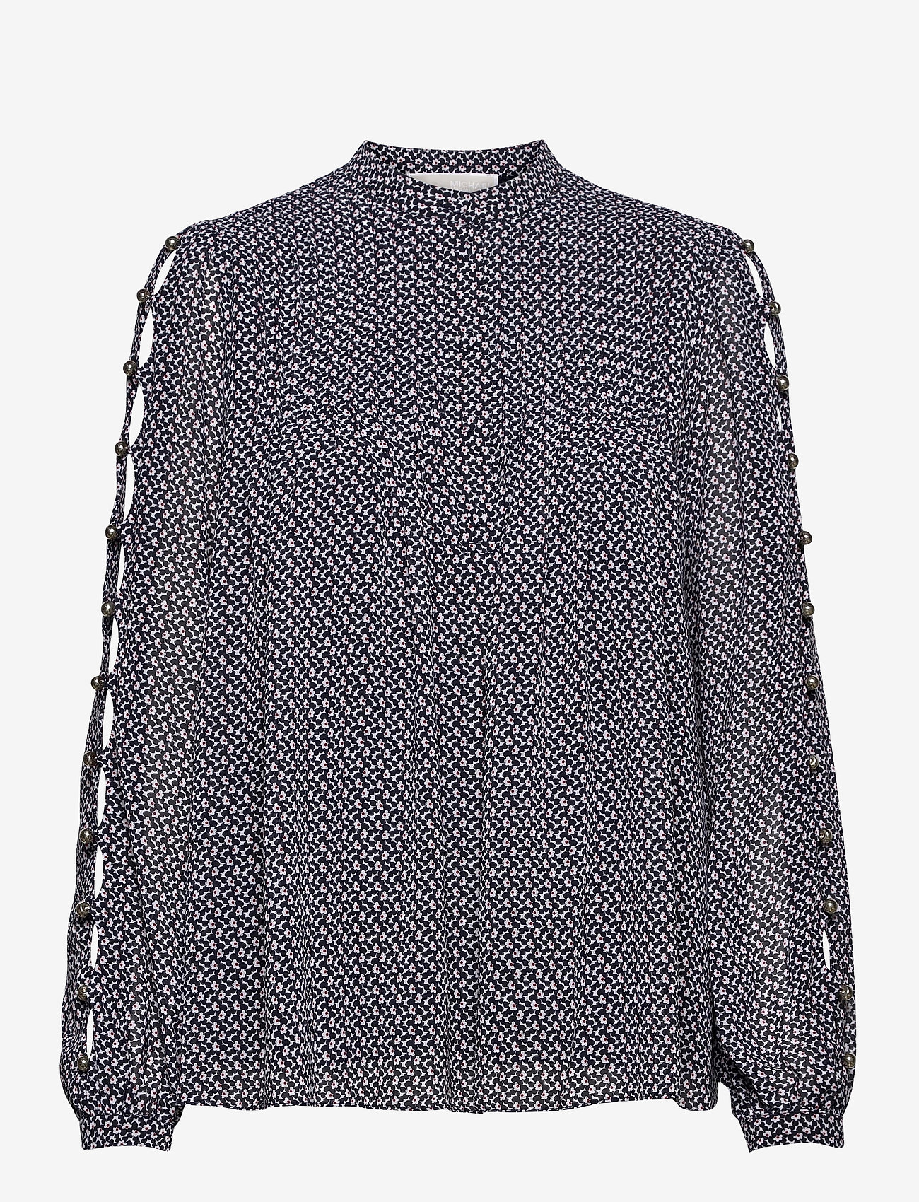 Michael Kors - MINI FLORAL LS TOP - blouses met lange mouwen - mdntbl multi - 0