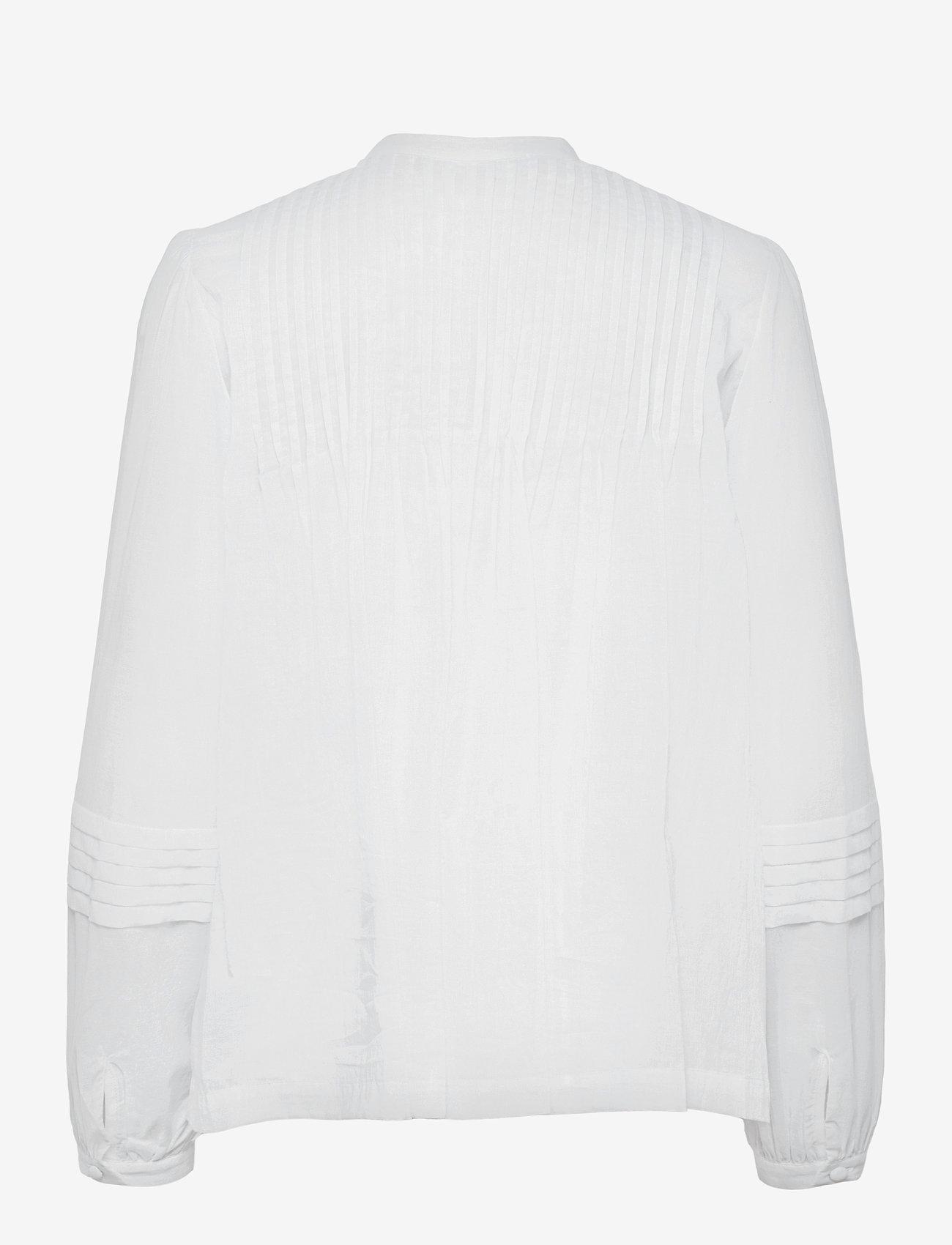 Michael Kors - CTN LAWN FLRL PINTUCK TOP - blouses met lange mouwen - white - 1