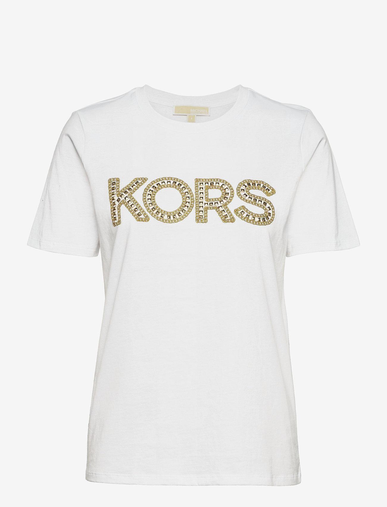 Michael Kors - KORS STUDDED CLASSIC TEE - t-shirts - white - 0