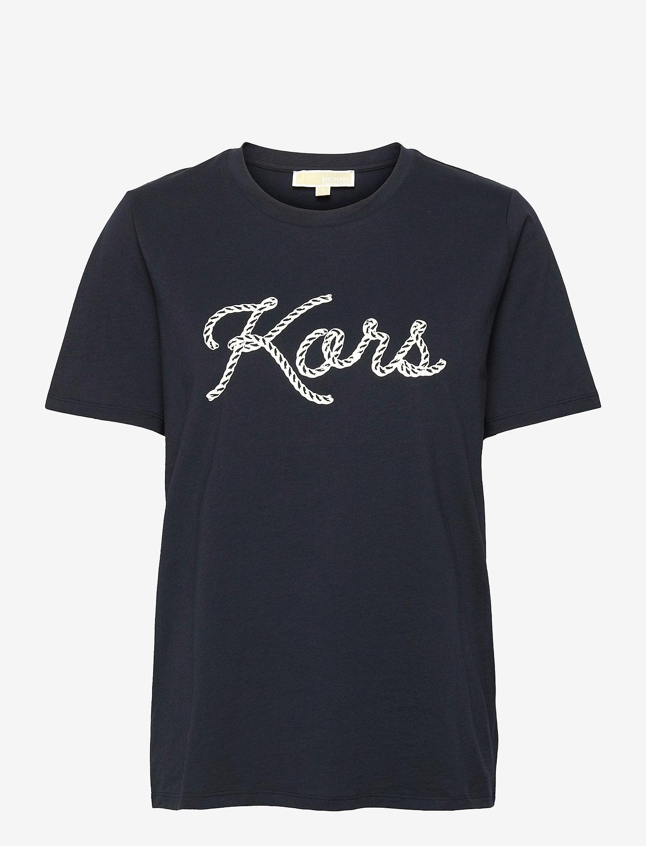 Michael Kors - KORS ROPE GRAPHIC TSHIRT - t-shirts - midnightblue - 0