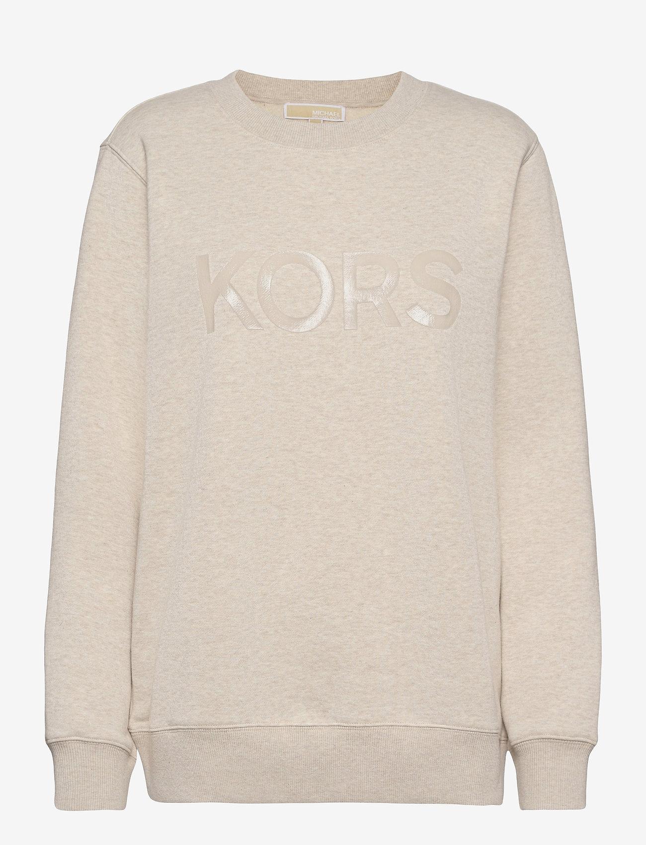 Michael Kors - UNISEX TONAL SWEATSHIRT - sweatshirts en hoodies - dune heather - 0