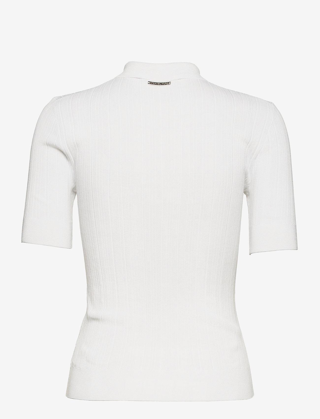 Michael Kors - BUTTON POLO SWEATER - polohemden - white - 1
