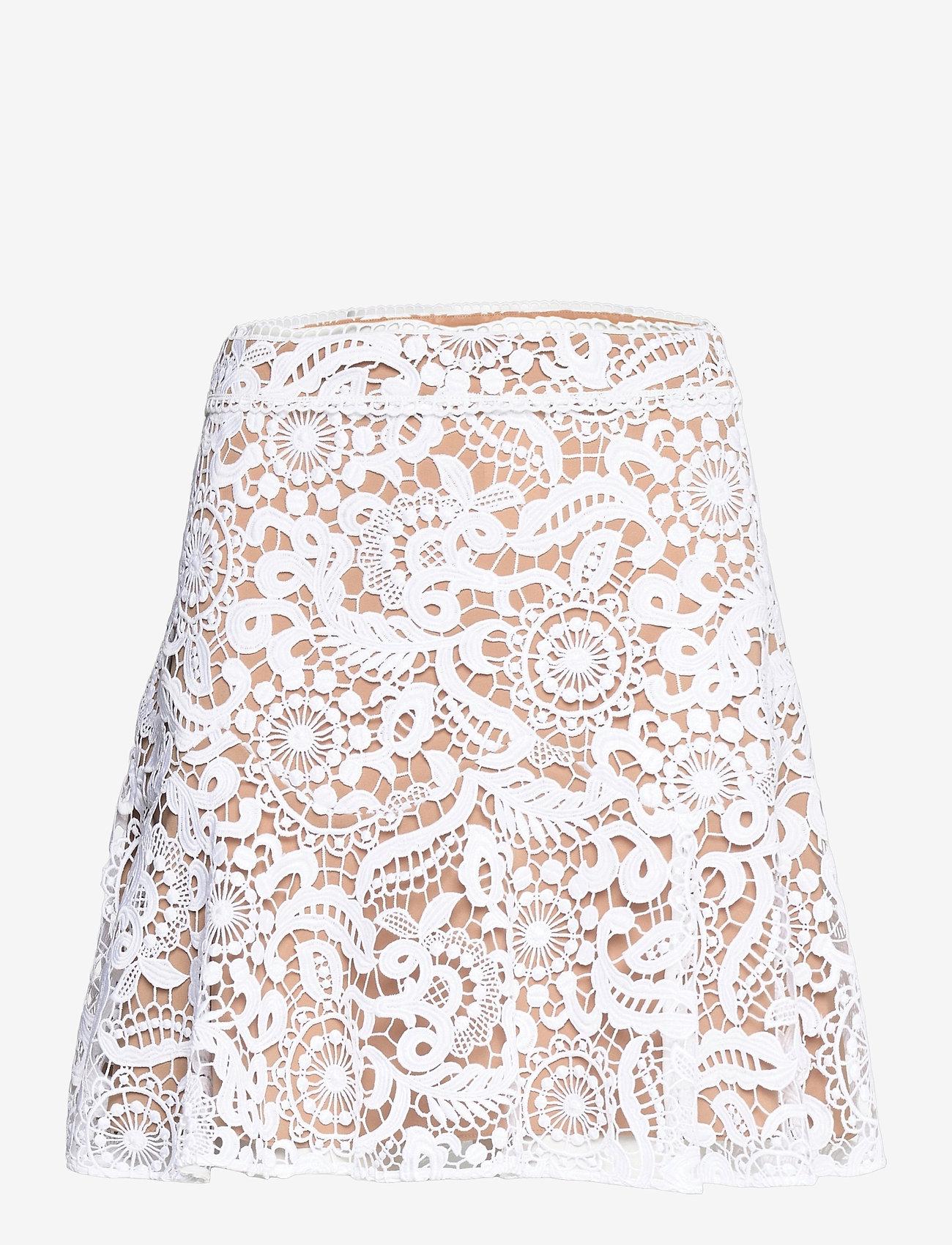 Michael Kors - GRVY LACE MINI SKIRT - korta kjolar - white - 0