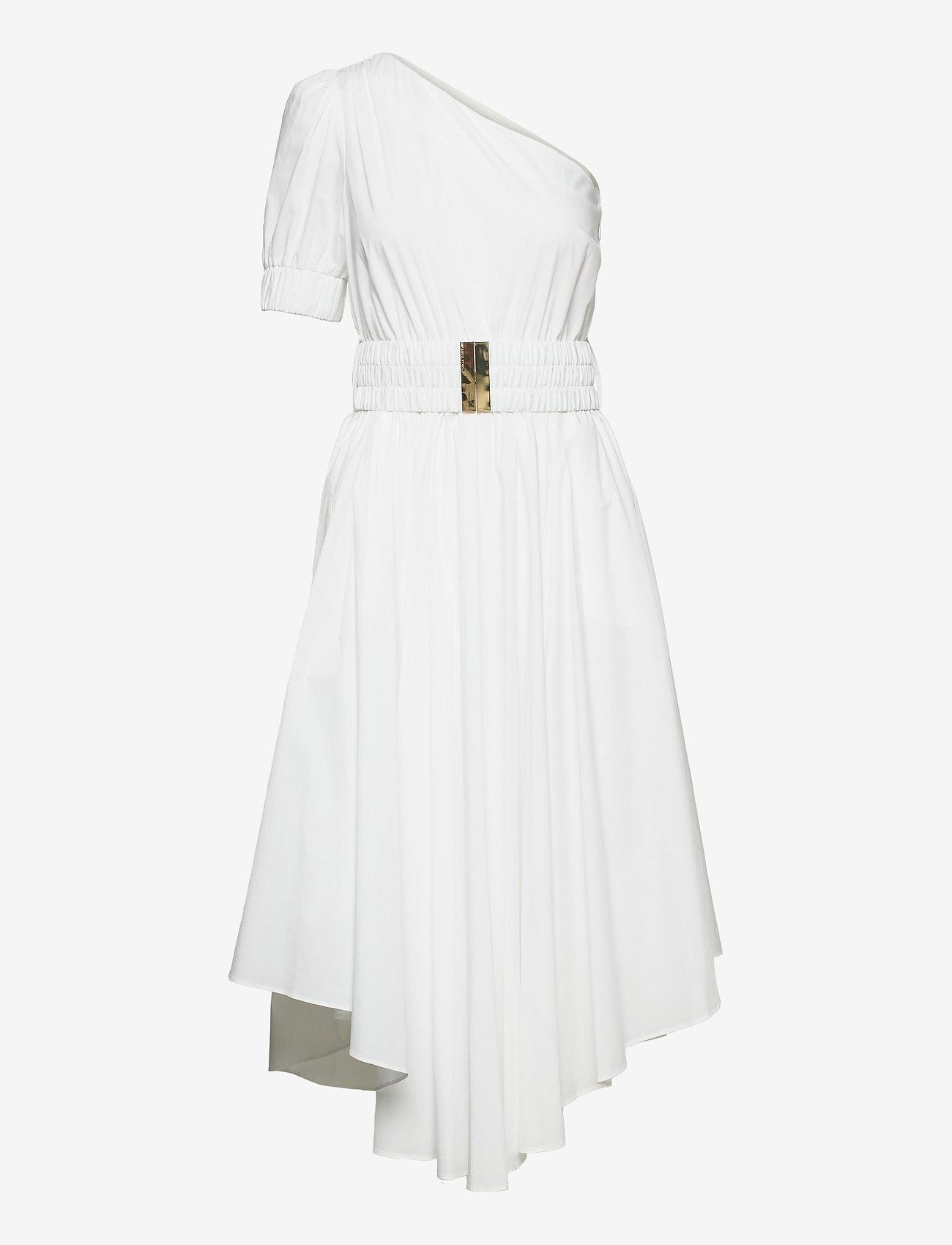 Michael Kors - ONE SHOULDER MIDI DRESS - zomerjurken - white - 0