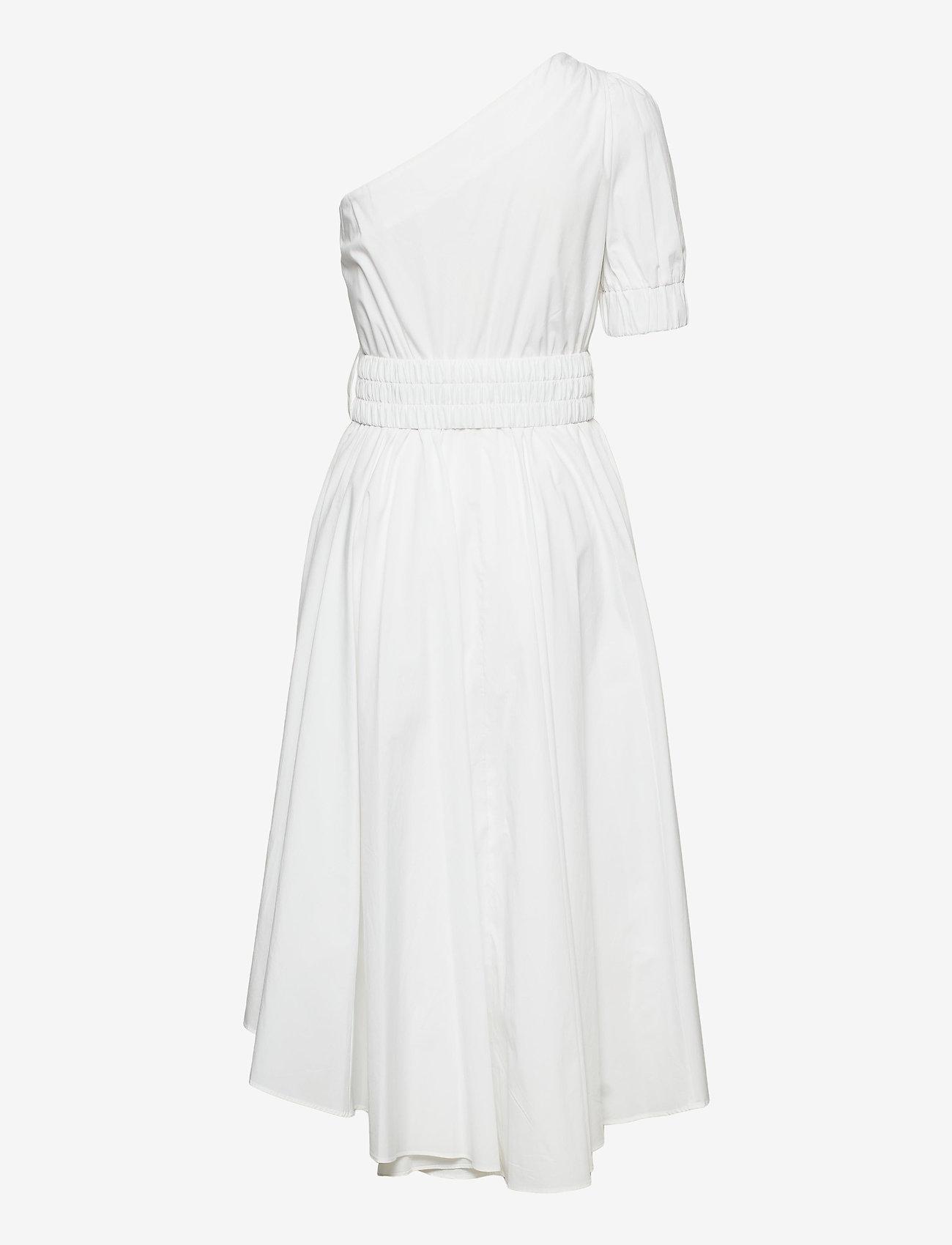 Michael Kors - ONE SHOULDER MIDI DRESS - zomerjurken - white - 1