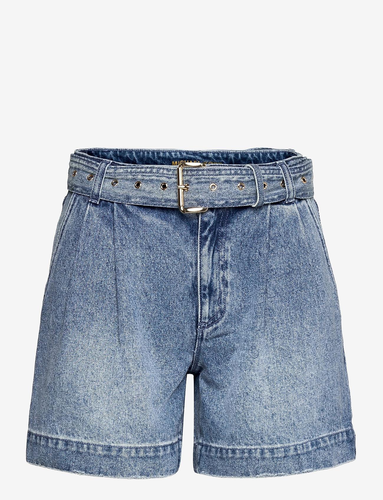 Michael Kors - PLEATED BELTED DNM SHORT - korte jeansbroeken - vtg cs wsh - 0