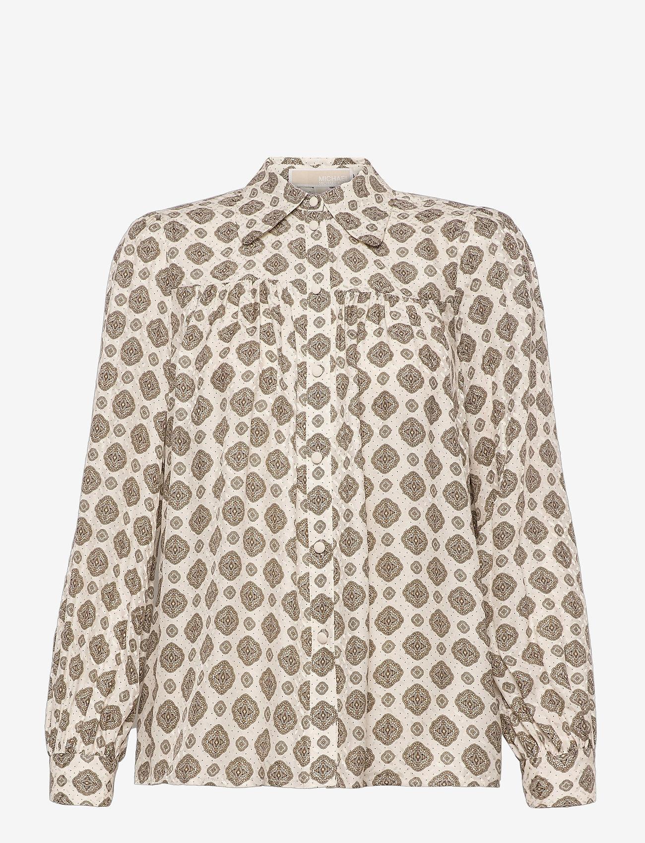 Michael Kors - LUX PD MEDALLION TOP - chemises à manches longues - bone - 0