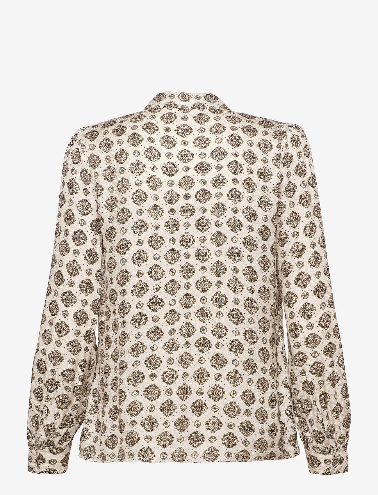 Michael Kors - LUX PD MEDALLION TOP - chemises à manches longues - bone - 1