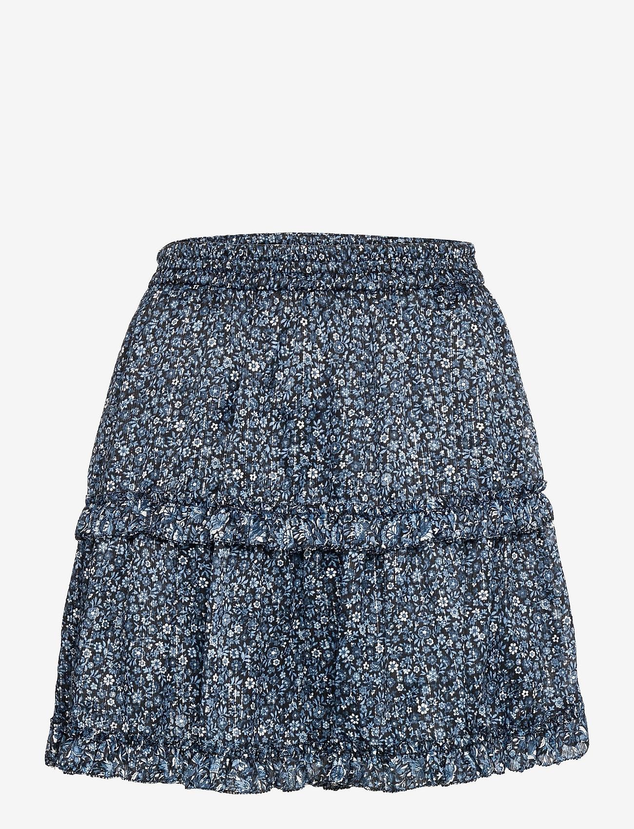 Michael Kors - MINI FLORAL MINI SKIRT - korte nederdele - chambray - 0