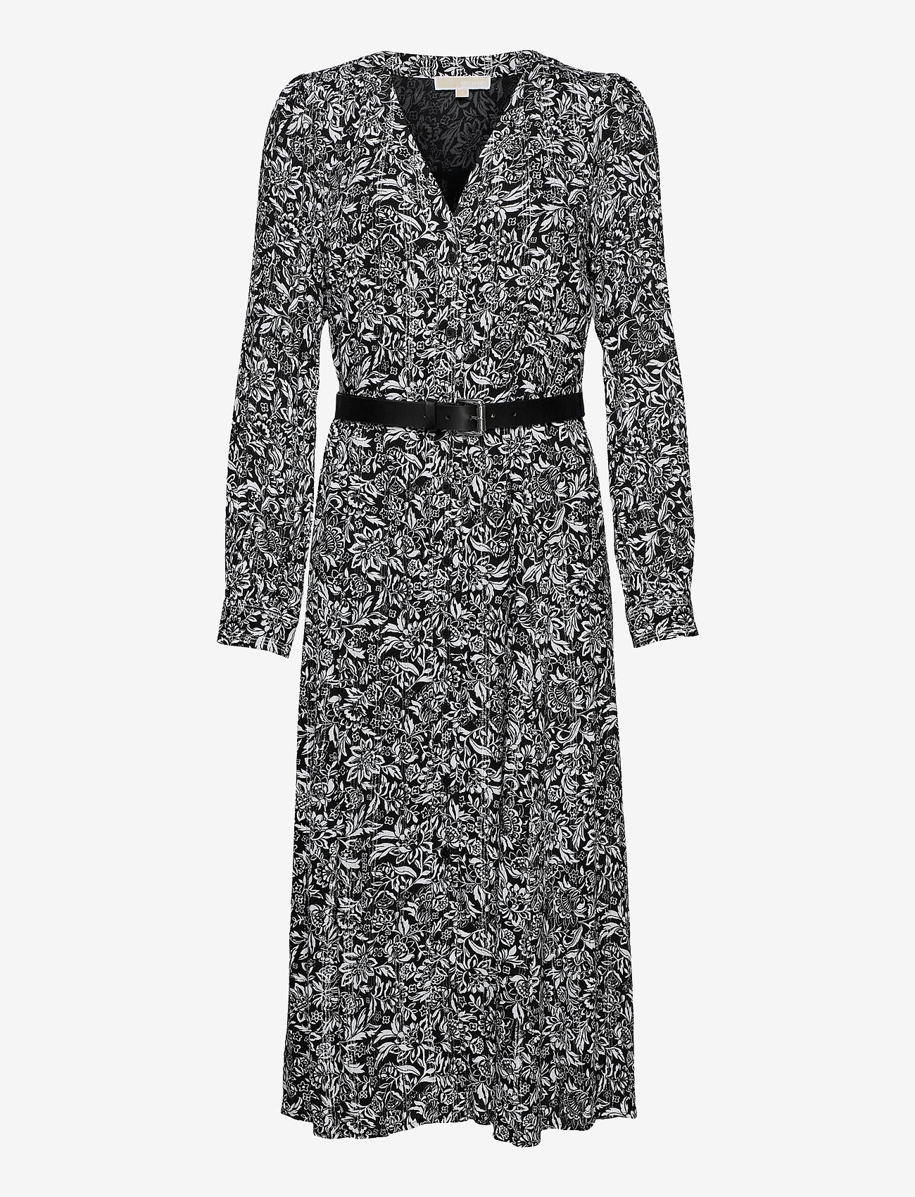 Michael Kors - FLORAL KATE DS - alledaagse jurken - black/white - 0