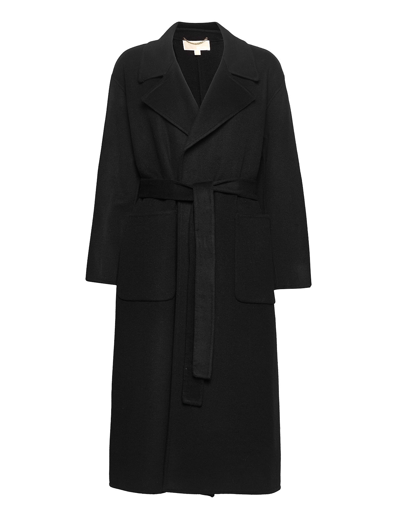 Dbl Face Robe Coat Uldfrakke Frakke Sort Michael Kors