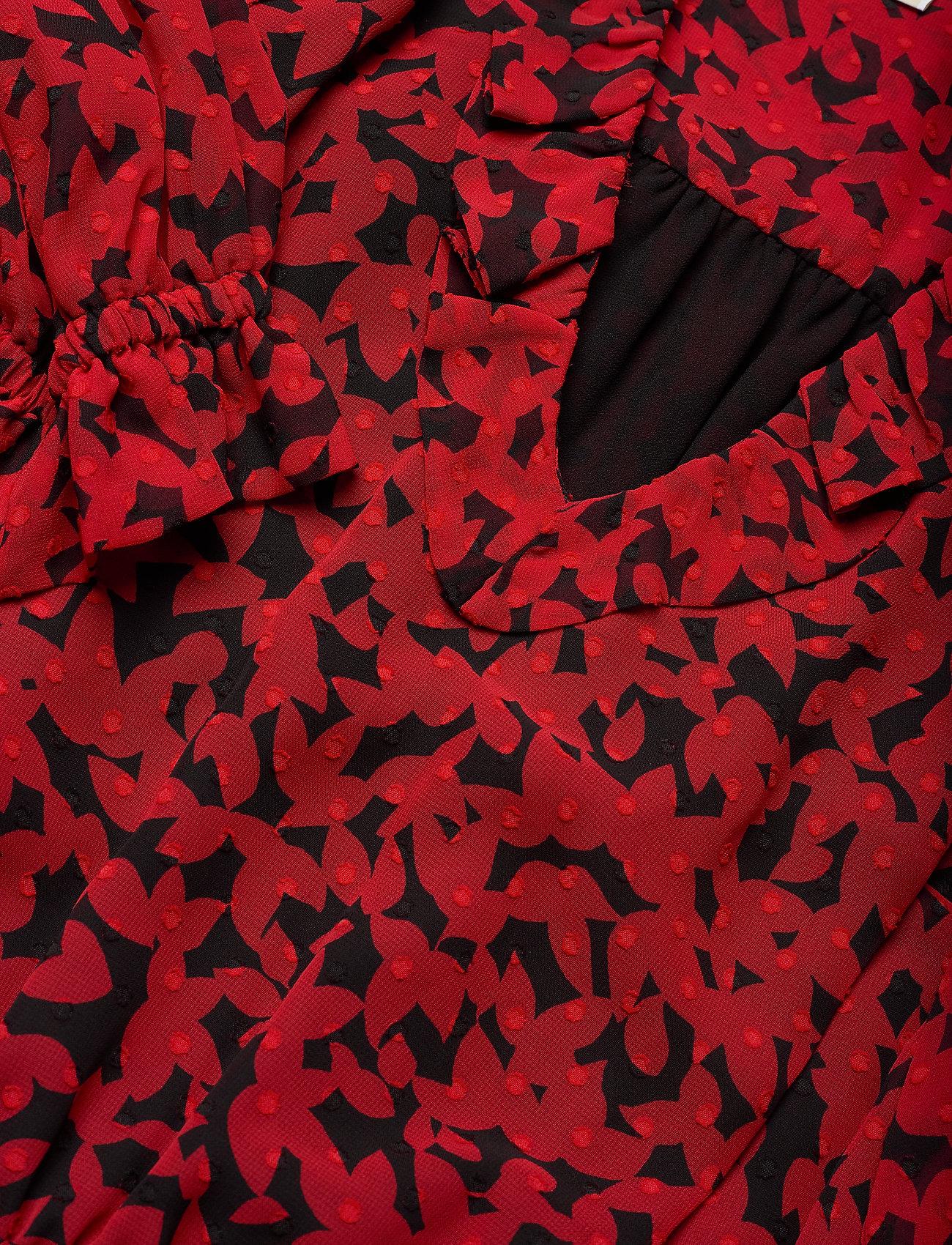 Kors Dressblck Leaf Tiered scarletMichael Gdn 8vmNn0wO
