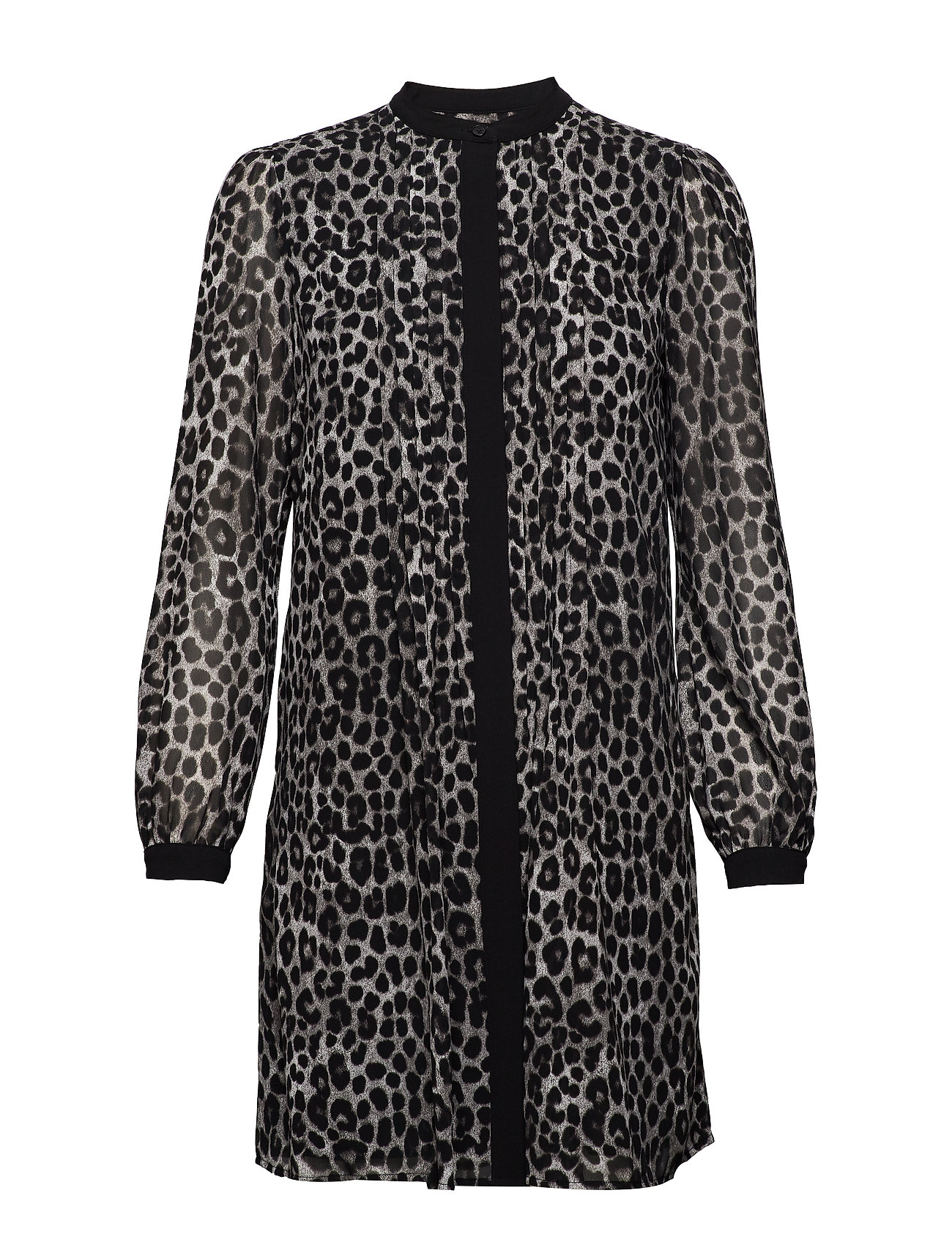 Michael Kors LS CHEETAH SHRTDRESS - GUNMETAL