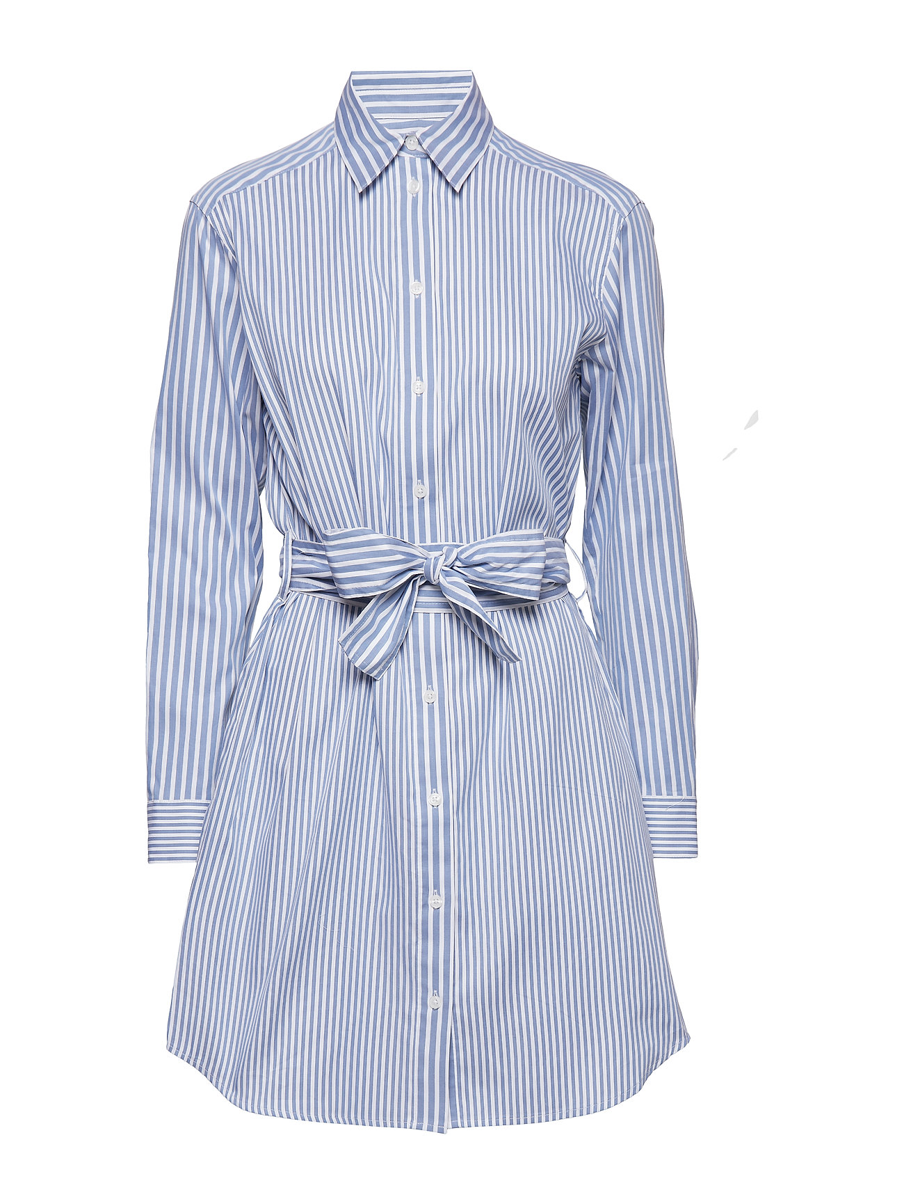 Image of Stripe Mix Shirt Dres Knælang Kjole Blå Michael Kors (3110999205)