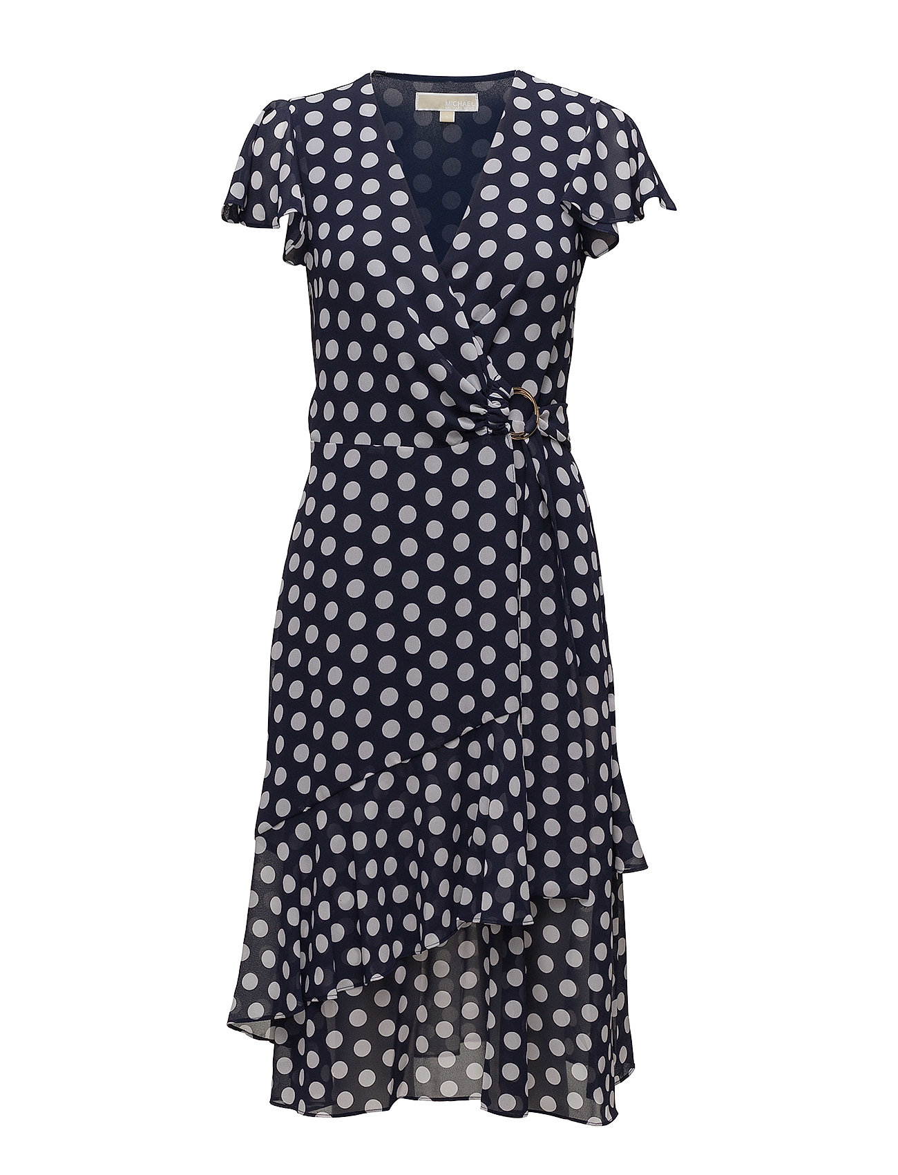 Image of Simple Dot Wrap Dres (3101128169)