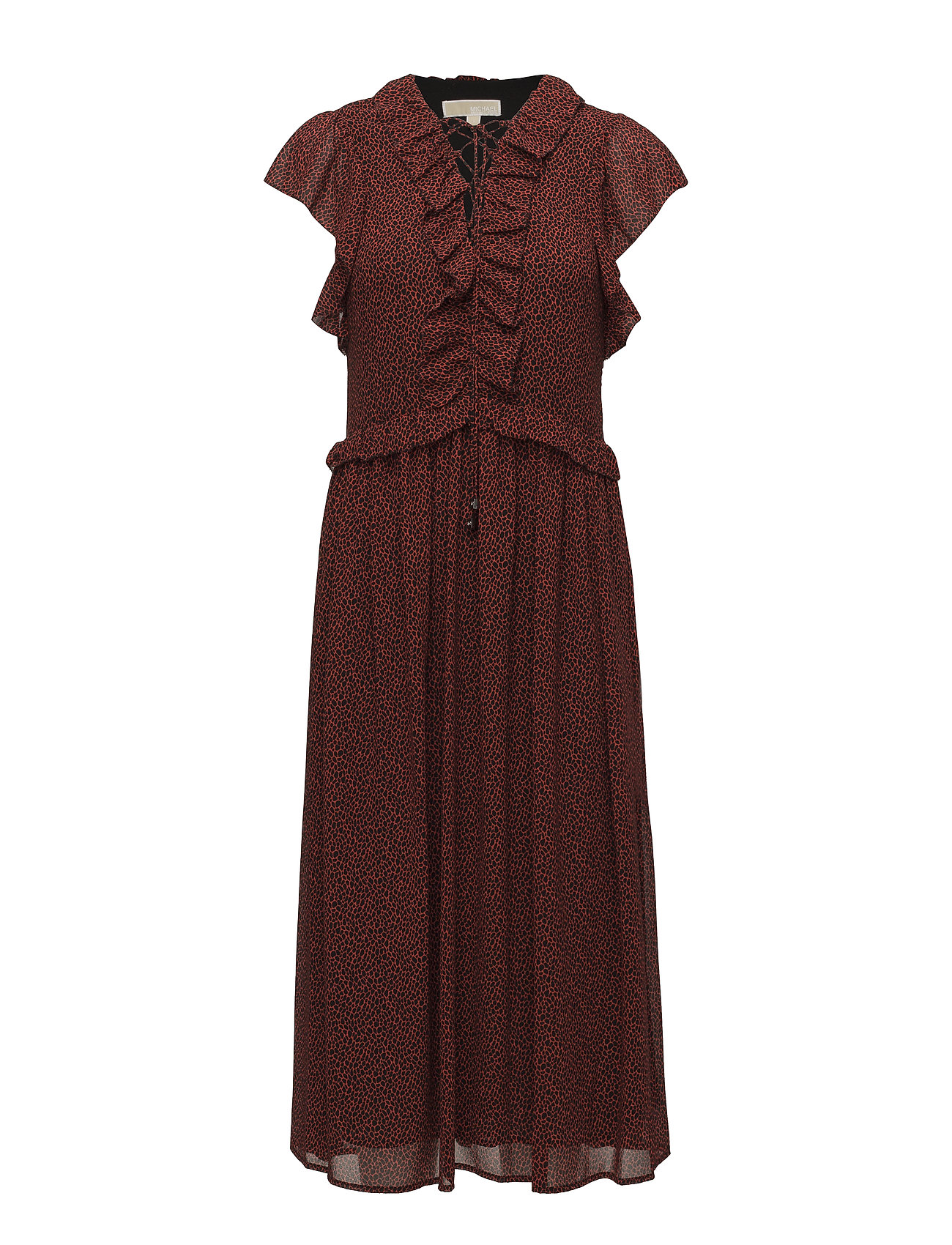 c73d9ef8 Lace Up Maxi Dress (Poppyrd/blck) (£118.25) - Michael Kors - | Boozt.com
