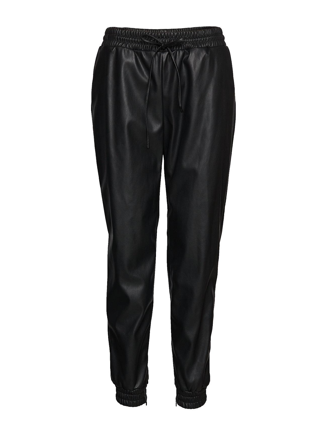 Michael Kors LEATHER JOGGER PANT - BLACK