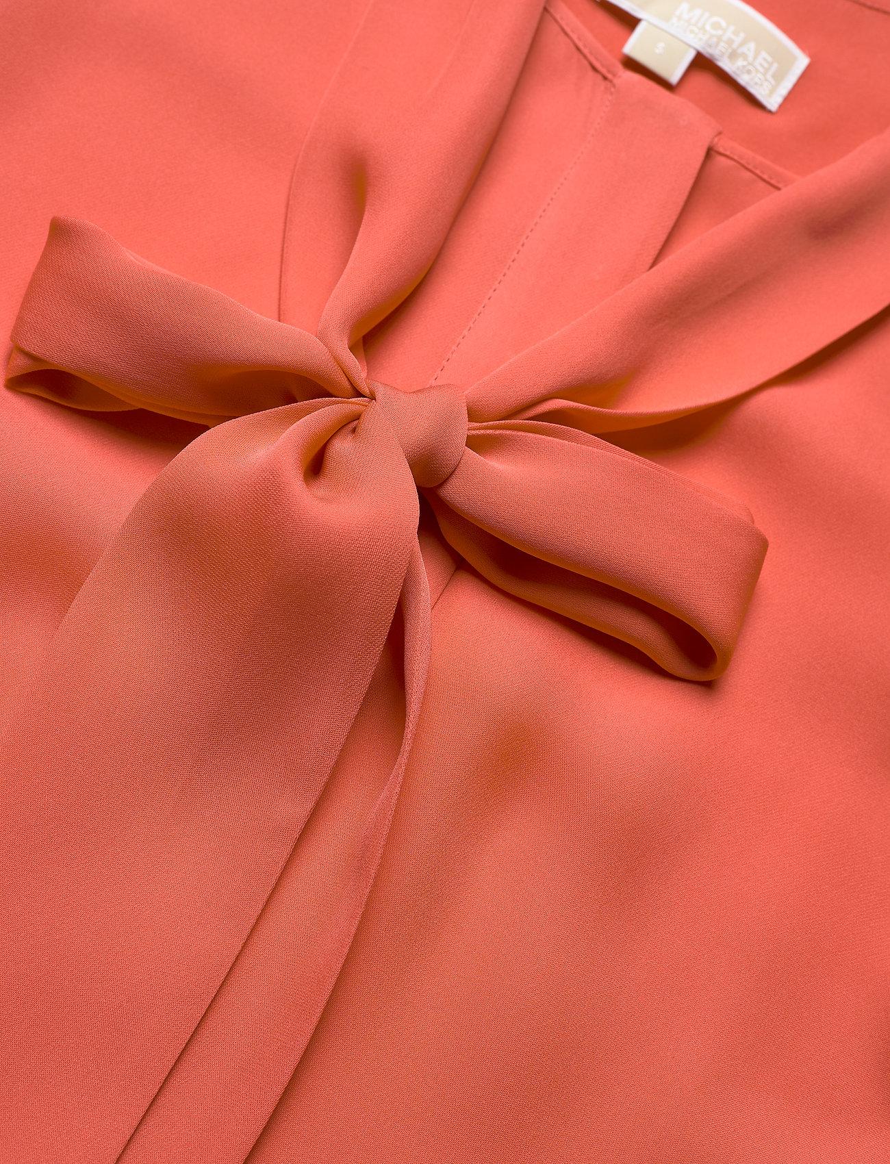 Solid Silk Bow Blse (Coral Peach) (168.75 €) - Michael Kors 8dUf0
