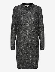 Michael Kors - SEQUIN LS MINI DRESS - hverdagskjoler - silver - 0