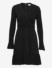Michael Kors - ELV SHIRRED MINI DRS - alledaagse jurken - black - 0