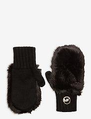 Michael Kors - MK PATCH FUR MITTENS - handschoenen - black/gold - 0