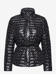 Michael Kors - BELTED PCKBL PUFFR - gewatteerde jassen - black/white - 0