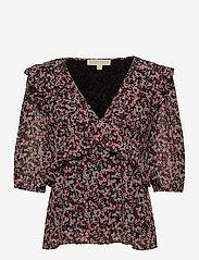 Michael Kors - DAINTY BLM TOP - blouses met lange mouwen - dark ruby - 0