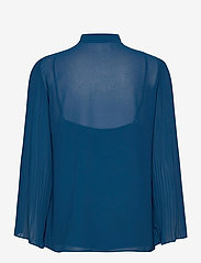 Michael Kors - PLEATED TOP - blouses met lange mouwen - river blue - 1