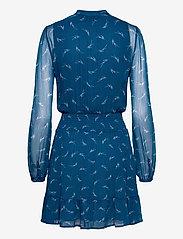 Michael Kors - SIG LOGO PRINT DRESS - alledaagse jurken - river blue - 1
