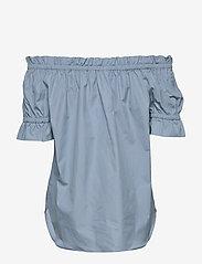 Michael Kors - POPLIN OFF SHOLDER - blouses met korte mouwen - chambray - 1