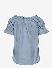 Michael Kors - POPLIN OFF SHOLDER - blouses met korte mouwen - chambray - 3