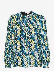 Michael Kors - 60S FLORAL TIE BLOUSE - blouses met lange mouwen - brt limeade - 0