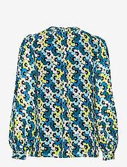 Michael Kors - 60S FLORAL TIE BLOUSE - blouses met lange mouwen - brt limeade - 1