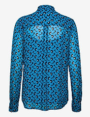 Michael Kors - 60S FLORAL BTN DWN BLS - blouses met lange mouwen - brt cyan blu - 1