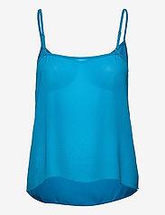 Michael Kors - 60S FLORAL BTN DWN BLS - blouses met lange mouwen - brt cyan blu - 2