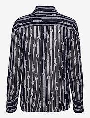 Michael Kors - SPACED SAILOR OVER SZ TOP - overhemden met lange mouwen - mdntbl/wht - 1