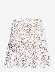 Michael Kors - GRVY LACE MINI SKIRT - korta kjolar - white - 1