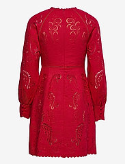 Michael Kors - LONG SLV EMB MINI DRESS - zomerjurken - crimson - 1