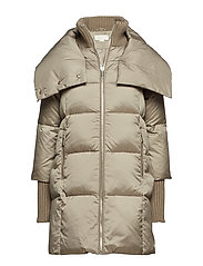 FASHION HEAVYDOWN PUFFER - TAUPE
