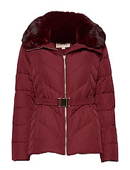 FITTED HEAVYDOWN PUFFER - DARK BRANDY