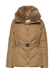 FITTED HEAVYDOWN PUFFER - DARK CAMEL